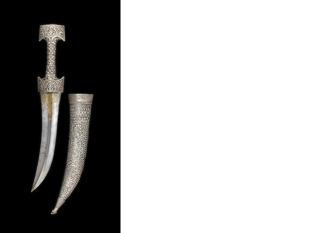 Poignard Ottoman avec inscription '1125AH' ou '1713AD' - A Ottoman dagger with inscription and date 1125 (1713AD)
