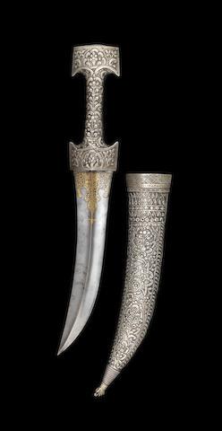 Poignard Ottoman avec inscription '1125AH' ou '1713AD' - A Ottoman dagger with inscription and date 1125 (1713AD)