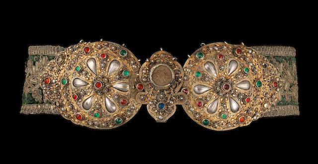 Ceinture Ottoman - trois perles manquantes - A silver Ottoman belt, Turkey, 19th century