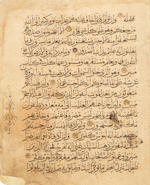 Three large Qur'an leaves Persia, 14th Century(3)