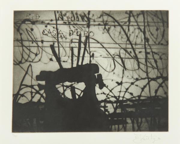 William Kentridge (South African, born 1955) Zeno Writing (3), 2004 21 x 26.5cm (8 1/4 x 10 7/16in)(PL).