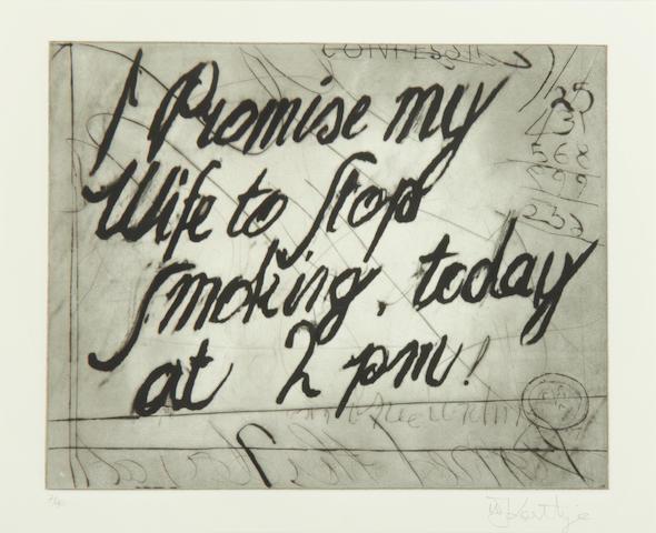 William Kentridge (South African, born 1955) Zeno Writing (4), 2004 21 x 26.5cm (8 1/4 x 10 7/16in)(PL).