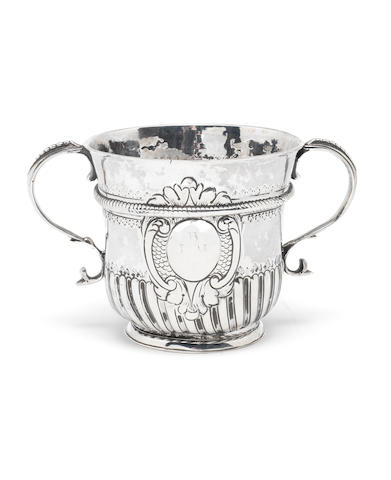A Queen Anne silver two-handled porringer probably by Richard Greene, London, possibly 1707