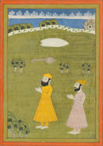 Four paintings, originally from a Janamsakhi manuscript, depicting scenes from the life of the Sikh Guru Nanak (1469-1539) North India, second half of the 18th Century(4)