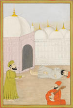 Four paintings, originally from a Janamsakhi manuscript, depicting scenes from the life of the Sikh Guru Nanak North India, circa 1750(4)