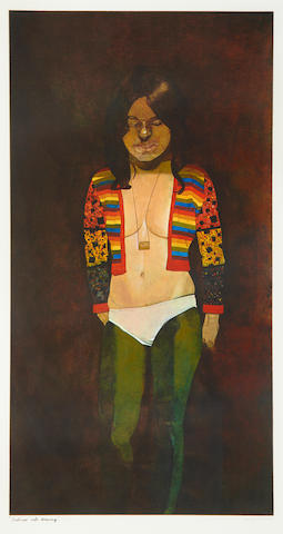 Sir Peter Blake (British, born 1932) Costume life drawing Screenprint, 1972, printed in colours, on wove, signed and numbered 118/125 in pencil, titled in black ink; apparently in excellent condition, unexamined out of the frame, 430 x 223mm (16 5/6 x 8 3/4in)(I)