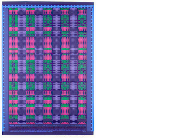 Sir Eduardo Paolozzi (British, 1924-2005) Memory Matrix, from Universal Electronic Vacuum (Miles 41) Screenprint in colours, 1967, on wove, signed, dated and inscribed 'A/P' in pencil, an artist's proof aside from the edition of 75, published by Editions Alecto, London, printed by Kelpra Studio, London, 920 x 610mm (36 x 24in)(I)