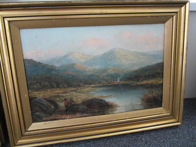 Harry Armstrong Whittle (British, 19th Century) Scotish landscape 28x43cm.