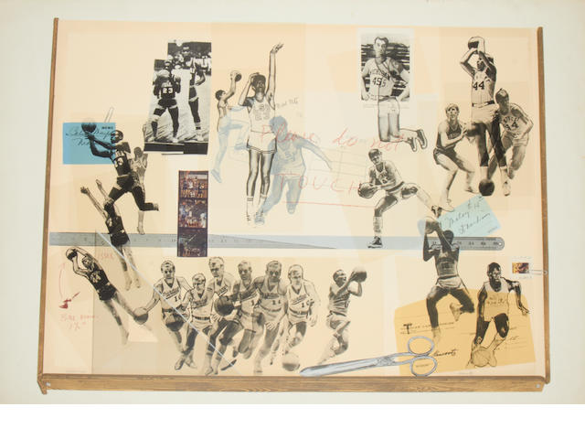 Howard Kanovitz (American, 1929) Basketball Pinboard Screenprint in colours, 1969, on wove, signed and inscribed 'AP', an artist's proof aside from the edition, printed and published by Kelpra Stuidos, London, with full margins, 710 x 1003mm (28 x 40 1/2in) (SH) (unframed)
