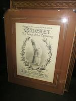 A collection of cricket prints