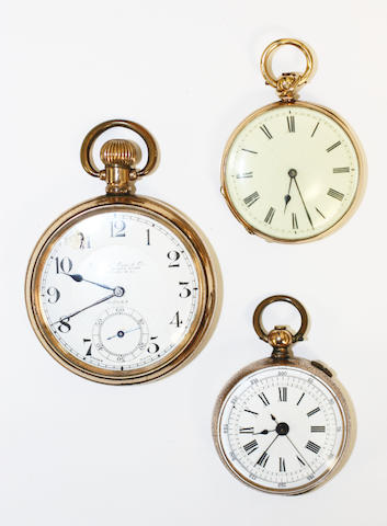 An 18k gold fob watch retailed by Lawson & Son, Brighton 3