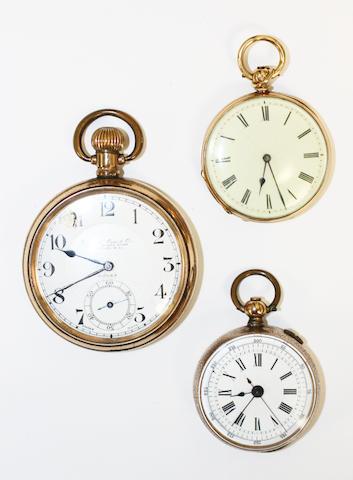 An 18k gold fob watch retailed by Lawson & Son, Brighton 3