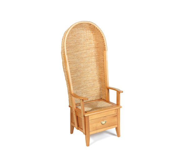 A 20th century hooded Orkney chair  by Robert Harcus Towers