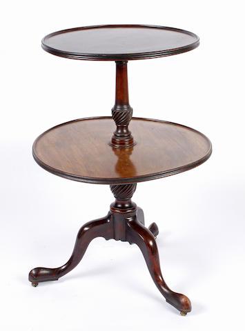 A George III mahogany tripod dumb waiter