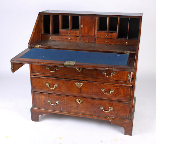 A mid-18th Century walnut bureau