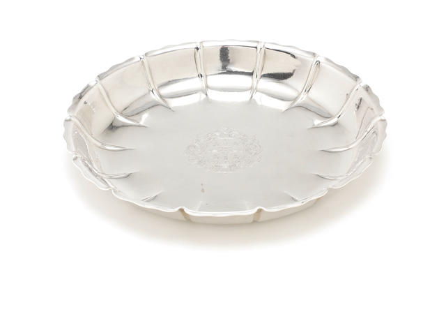 A George I silver strawberry dish by Samuel Ley, London 1717