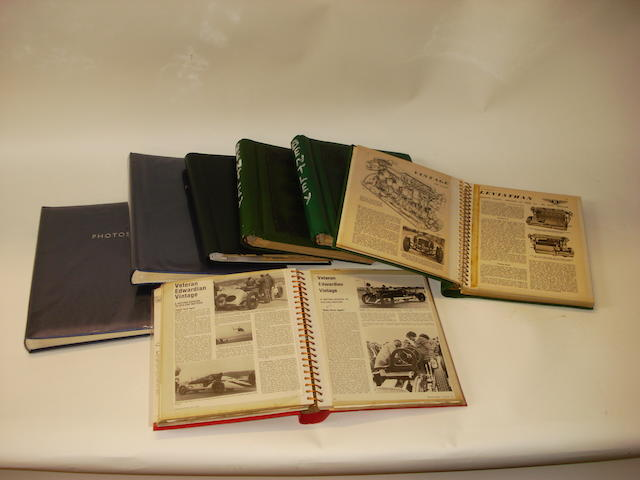 A quantity of assorted scrap books relating to vintage racing and motoring,