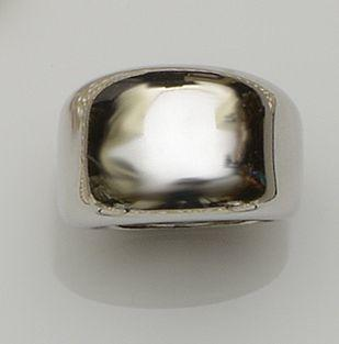 Cartier: An 18ct white gold ring