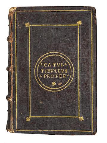 CATULLUS, TIBULLUS and PROPERTIUS [Opera], 1534