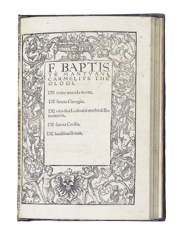 PALEARIO (AONIO) Epistolarum, 1585; and another (2)