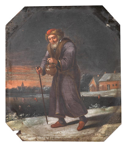 Manner of David Teniers the Younger, 18th Century An Allegory of Autumn; and An Allegory of Winter (2)
