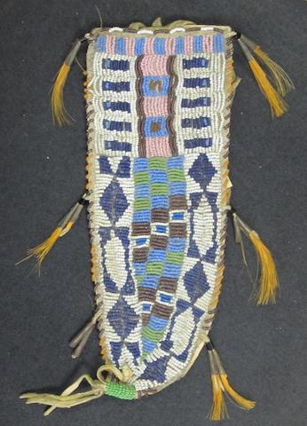 A Sioux knife sheath, Plains, 31cm long