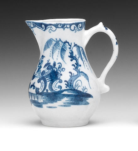 A Lowestoft sparrow beak jug, circa 1765-68