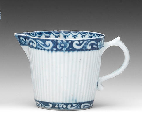 A rare early Lowestoft cream jug, circa 1760