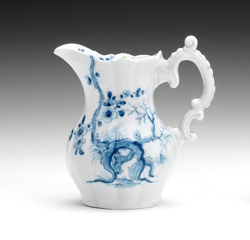 A Worcester cream jug, circa 1758