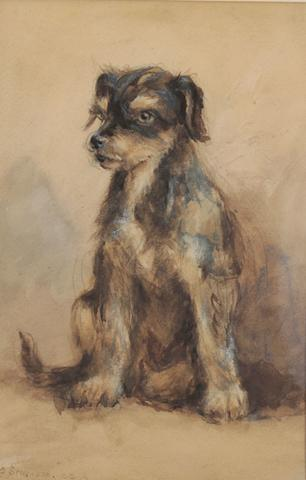 William Grant Stevenson, RSA (British, 1849-1919) Terrier