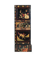 The Bury Hill CabinetsTwo George II coromandel lacquer cabinets, incorporating 17th century panels