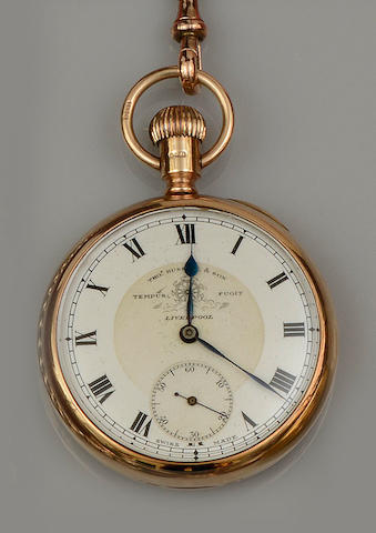 Thos Russell, Liverpool: A 9ct gold pocket watch
