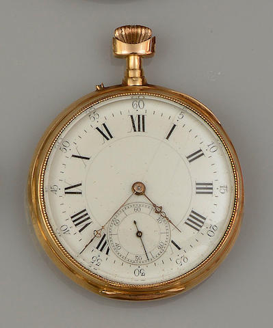 An open face pocket watch and a curb-link bracelet (2)