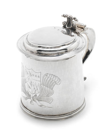 A Charles II silver tankard by John Buck, London 1681