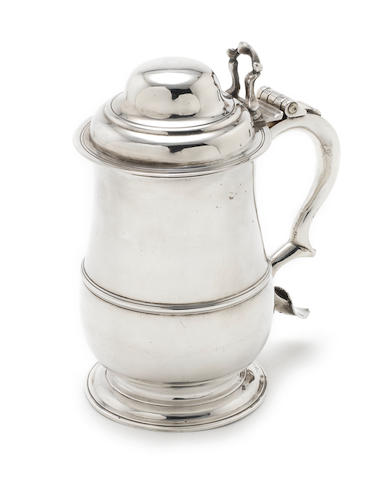 A George II silver tankard by William Shaw & William Priest,  London 1758
