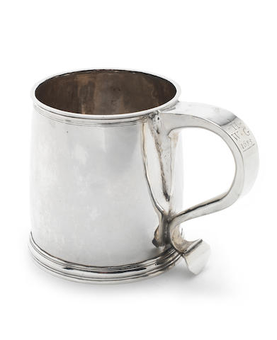 A Charles II  silver mug possibly by John Ruslen, see Jackson's p.138, London 1684