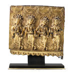 A rare gilt bronze Densatil 'dancers' frieze 15th century [CHECK]