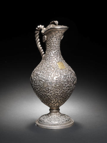 A Kutch repoussé silver Ewer India, late 19th Century