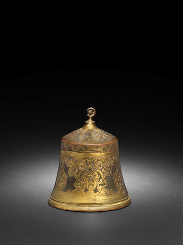 Tombak Ottoman - A small Ottoman tombak covered vessel, 19th century