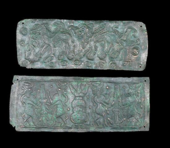 Two Uratu bronze plaques