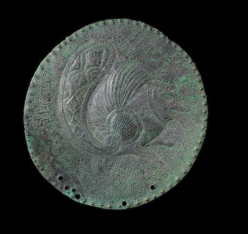 A Sassanian circular plaque