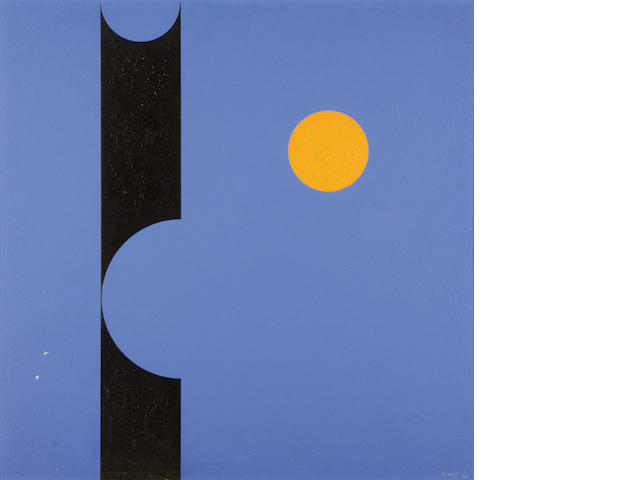 Albert Newall (South African, 1920-1989) 'Painting 1964 (blue ground)'