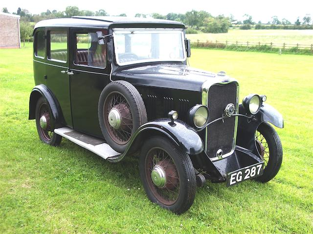 47 years in present family,1932 Singer Junior Saloon  Chassis no. 39572 Engine no. 38985