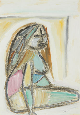 Patrick Hayman (British, 1915-1988) Seated woman