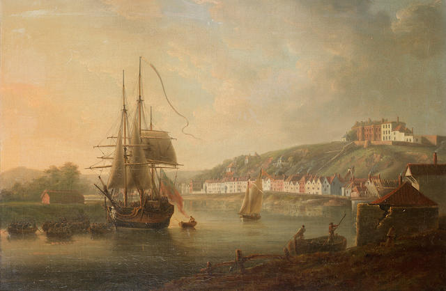Nicholas Pocock (British, 1740-1821) The Avon at Bristol with Clifton Wood seen from Sea Banks