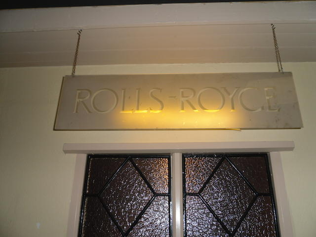 A Rolls-Royce showroom sign,