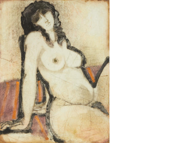 Douglas Portway (South African, 1922-1993) Female nude