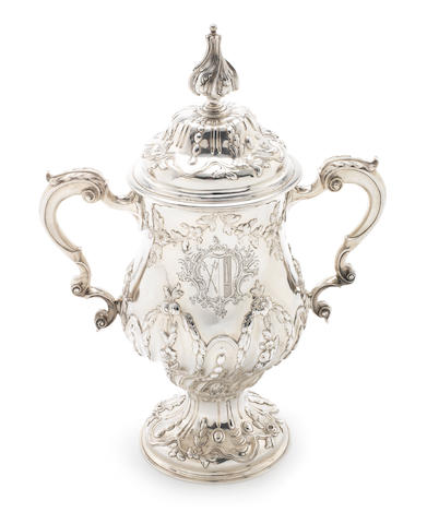 A George III silver two-handled cup and cover Maker's mark AP, probably by Abraham Portal, London 1764