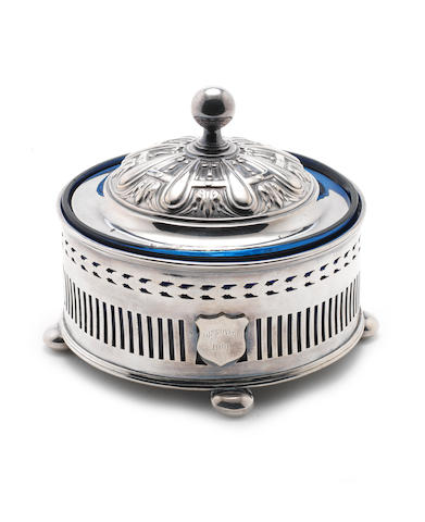 DISCOVERY An electroplated butter dish