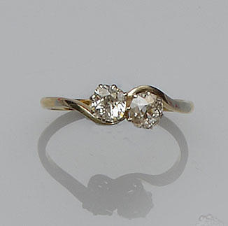 A two stone diamond ring